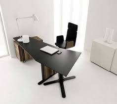 interesting home office desks design black wood. All White Painted Interior Color Decor Small Modern Home Office Design With Ceramic Floor Tiles And Black Metal Desk Wooden Storage Plus Leather Interesting Desks Wood C