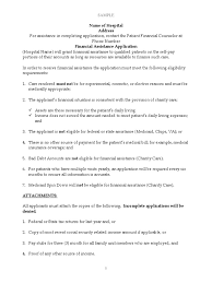 Charity Application Sample Medicaid Social Security United