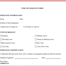 Paid Time Off Form Template Sick Leave Request Form Template Hashtag Bg