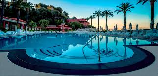 The Olympic size pool at the Monte Carlo Beach
