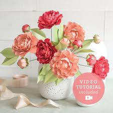 Paper Flower Video Camellias Frosted Paper Flower Kit