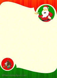 Word Christmas Stationery Template Free Letter Templates Printable