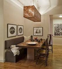 dining room tables with a bench