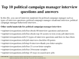 political campaign manager resume top 10 political campaign manager interview questions and answers 1 638 jpg cb 1426903074