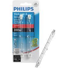 500w Halogen Work Light Bulbs Philips 300w 120v Clear Rsc Base T3 Work Light Bulb 2 Pack