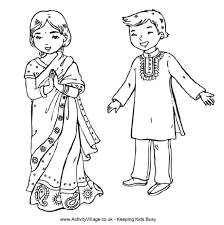 Small Picture Marvellous Design Around The World Coloring Pages Indian Children
