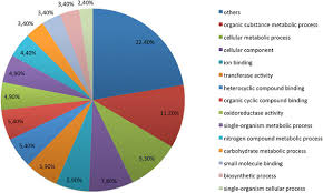 Pie Chart Distribution Of The Gene Ontology Category