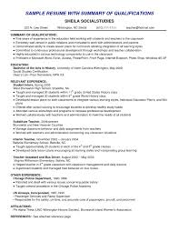 Resume Skills Summary Examples Example Of Skills Summary For Resume