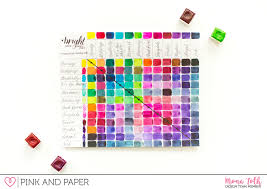 Watercolor Palette Chart Watercolor Basics With Jane Davenport Paint Set Pink And