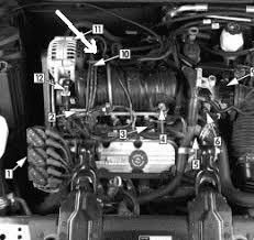 solved misfire on cylinder 5 on 1999 grand prix 3 1 fixya back left of engine