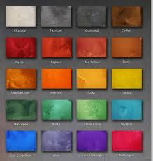 Stained Polished Concrete Color Chart Floor Colors