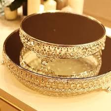 Decorative Glass Trays Kingart Mirror Tray Decorative Glass Plate Set For Wedding Dessert 42