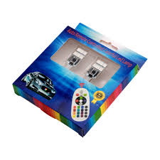Everbrightt 1 Set Rgbw T10 5050 12smd Auto Remote Controlled Colorful Led Lamp Car Interior Lights Dc 12v