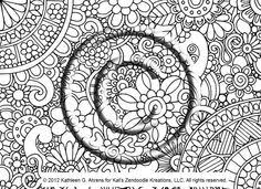 Small Picture Instant Download Coloring Page Hand Drawn Zentangle Inspired Eye
