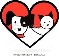 cats and dogs in love drawing. Perfect Cats Dog And Cat Love Heart Shape Logo  Csp49304239 For Cats And Dogs In Love Drawing A