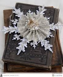 vine snowflake handmade ornament craft diy book pages maybe vine sbook paper instead