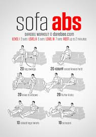 sofa abs workout in between watching tv