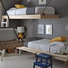 image space saving bedroom. Can You Fit A Trio Of Beds On Footprint Large Enough For One Or Two At Best? It Be Done. In This Clever Configuration, Three Bunks Are Supported By Image Space Saving Bedroom