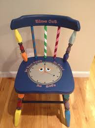 painted kids furniture. Hand Painted Kids Time-out Chair. Colorful And Whimsical Chair Makes Time Out Not Furniture