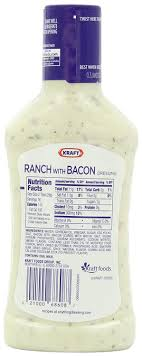 amazon kraft ranch with bacon dressing dip 16 ounce plastic bottles pack of 6 kraft marinade and salad dressing grocery gourmet food