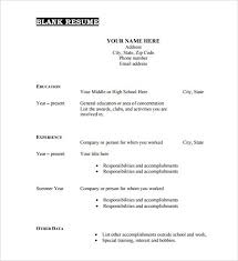 Free Resume Template Pdf 40 Blank Resume Templates Free Samples with regard  to Blank Resume Format