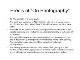 susan sontag essay on photography