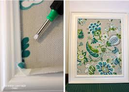 ... Astonishing Wall Decoration Using Fabric Cork Board Ideas : Amusing DIY  Green Flowery Fabric Cork Board ...
