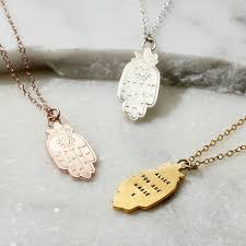 personalised large hamsa hand necklace previous