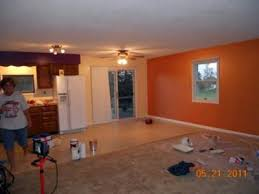 orange wall paintOrange Accent Wall Painting Idea Sherbet Paint Color by Martha