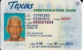 Identification Picture Texas Of Card