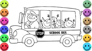 bus drawing for kids. Plain Kids School Bus Coloring Pages  Drawing For Kids Learn Colors With For