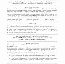 Early Childhood Education Resume Objective Awesome Sample Resume For ...