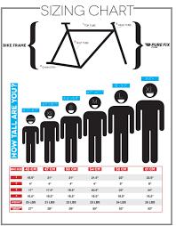 Sizing Chart Pure Fix Cycles Bicycle Bike Frame Bmx