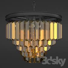 chandelier rh 1920s odeon clear glass fringe chandelier 5 square