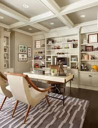 office ceilings. Home Office With Built In Shelves And Coffered Ceiling : Interior Rooms Ceilings