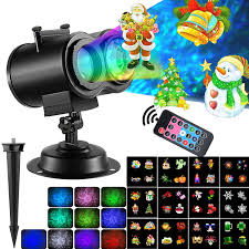 2 In 1 Lights Seas Activity Gym Saucer 2 In 1 Christmas Projector Lights With Ocean Waves 12 Moving Patterns Festive Landscape Led Lights With Remote For Indoor Outdoor Xmas Themed Party