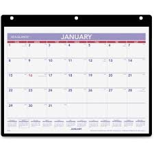 At A Glance Monthly Desk Wall Calendar With Poly Holder Servmart