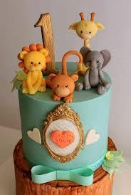 57146464 Pastel Jungle Baby Boy 1st Birthday Cake Cake Art In 2019