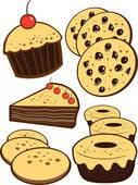 Black And White Baked Goods Clipart