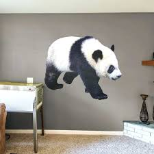 wildlife wall decals panda life size animal removable wall decal fathead vinyl wildlife wall decals
