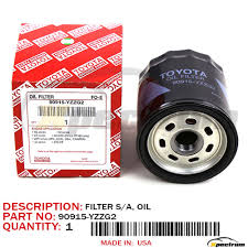 Toyota Oil Filter Chart Details About 90915 Yzzd1 Genuine Oem Toyota Engine Oil Filters 90915yzzg2