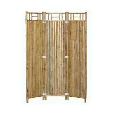 Bamboo 54 3-Panel Bamboo Folding Indoor Privacy Screen