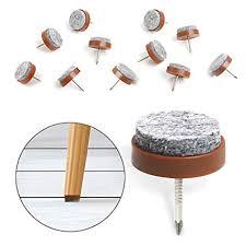 40pcs round heavy duty nail on anti sliding felt pad dia 0 79