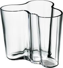 iittala  alvar aalto collection vase  mm clear  iittalacom es