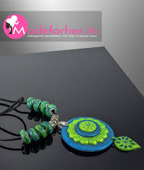 Blue Green Online Buy Blue Polymer Clay Jhumka Fashion Jewellery Online Shopping