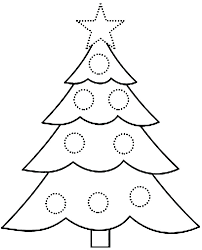 Printable Christmas Tree Coloring Pages Tree Color By Number