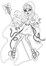 13 Monster High Coloring Pages Printable Print Color Craft Within