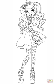 Small Picture Ever After High Kitty Cheshire coloring page Free Printable