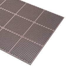 Kitchen Fatigue Floor Mat Cactus Mat 2535 B23 Honeycomb 2 X 3 Brown Rubber Anti Fatigue