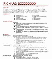 Government Contract Specialist Objectives Resume Objective Simple Employment Specialist Resume